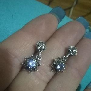Sterling/Tanzinite earrings